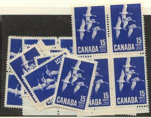 Canada USC#415 Mint (20) Inc. Block of Four 1963 15c Geese - VF-NH