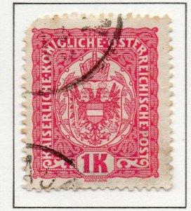 Austria 1916 Early Issue Fine Used 1K. NW-38050
