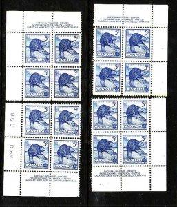 Canada-Sc#336- id6-unused,NH 5c beaver-plate #2- all 4 corners-1954-
