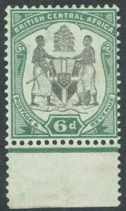 BRITISH CENTRAL AFRICA 1897 ARMS 6D STAMP MNH **