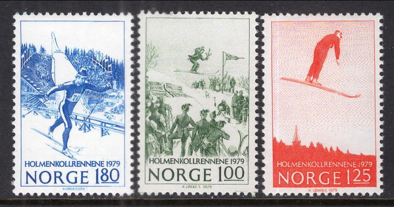 Norway 741-743 Skiing MNH VF