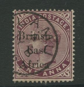 British East Africa -Scott 55 - QV Overprint Issue -1895 -VFU -Single 1a Stamp