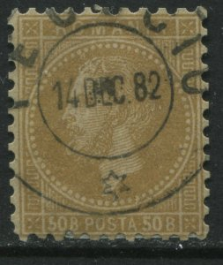Romania 1879 50 bani bister CDS used