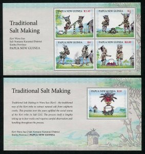 HERRICKSTAMP NEW ISSUES PAPUA NEW GUINEA Sc.# 1839-40 Salt Making S/S