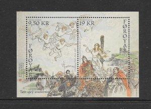 BIRDS - FAROE ISLANDS #688a  LEGEND OF THE SEVEN SWANS   MNH