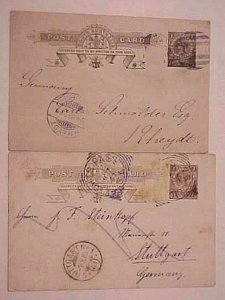 SOUTH AUSTRALIA  LIGHT PASS 1907 also ADELAIDE 1899 BOTH B/S GERMANY