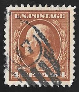 503 4 cents SUPERB CANCEL Washington, Brown Stamp used EGRADED XF 90 XXF