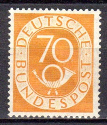 Germany Posthorn  70 Pf yellow-orange