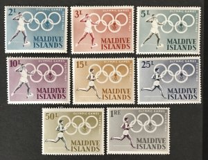 Maldive Islands 1964 #139-46, Unused/MH, CV $3.95
