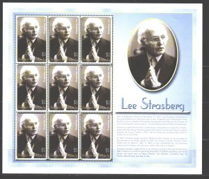 Antigua and Barbuda. 2002. Small sheet 3790. Strastberg film director. MVLH.