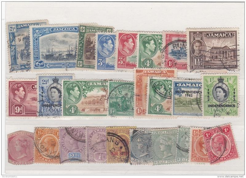 Jamaica QV  to QEII Used Collection (26 Values) ZZ2077