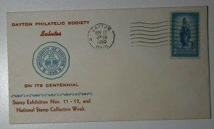 Dayton Philatelic Society 25th Anniv & Centennial Dayton OH Cachet Cover