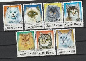 Guinea-Bissau Used 647-53 Domestic Cats 1985