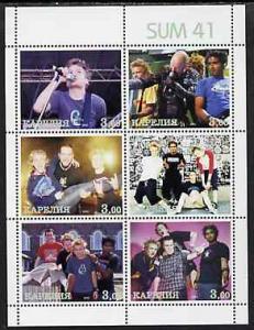 RUSSIA LOCAL SHEET SINGERS SUM 41 MUSIC STARS