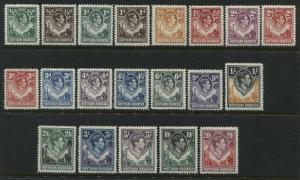 Northern Rhodesia KGVI 1938-52 complete set mint o.g.