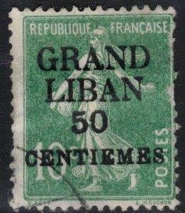Lebanon Scott #3 Used