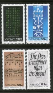 Venda 1990 History of Writing Calligraphy Music Characters Sc 209-12 MNH # 1242