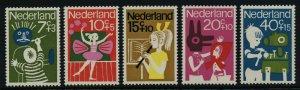 Netherlands B392-6 MNH Children, Art, Music, Dance
