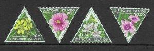 Pitcairn Is  488 -- 491  (SG 535/38) Flowers - MNH - VF - CV$10.75