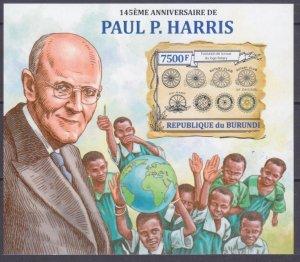 2013 Burundi 3122/B348b 145 years old Paul Harris 15,00 €