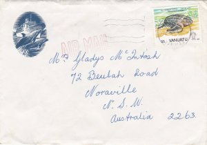 1992 55k Turtle on 1993? pictorial airmail commercial cover to Australia ST342