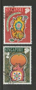 Singapore 1996 Year of the rat FU SG 826/7