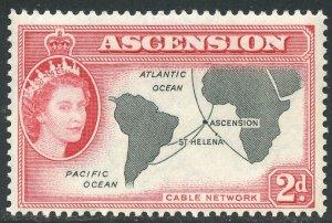 Ascension Scott 65 Unused F-VFVLHOG - Ascension Map - SCV $3.00