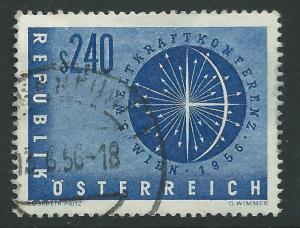 AUSTRIA SG1283 1956 5th WORLD POWER CONFERENCE VIENNA FINE USED
