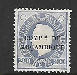 MOZAMBIQUE COMPANY  8   , NO GUM, KING LUIZ OVERPRINTED IN BLACK