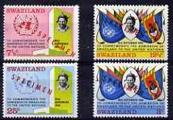 Swaziland 1968 Admission to United Nations perf set of 4 ...