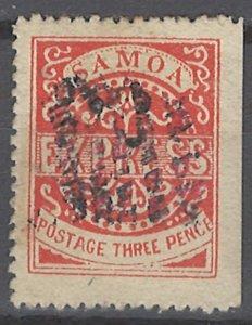 COLLECTION LOT # 2191 SAMOA  #3c 1877 CV=$250