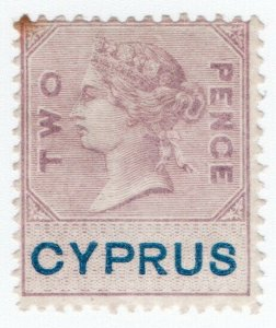 (I.B) Cyprus Revenue : Duty Stamp 2d (inverted watermark)