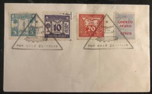1931 Paraguay Graf Zeppelin Flight Airmail Cover Stamps Sc # C56 60 64 30