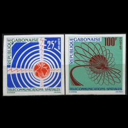 GABON 1963 - Scott# 167-8 Communication Imp. Set of 2 NH