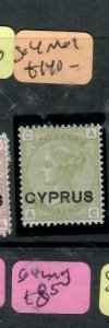 CYPRUS (P2512B) QV 4D OVPT GB SG 4  MOG ANTIQUE OVER 100 YEARS OLD