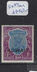 KUWAIT  (PP2102B)  ON INDIA KGV  5R  SG 27  MOG