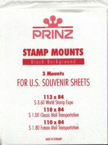 PRINZ WSESS (3) BLACK MOUNTS RETAIL PRICE $3.50