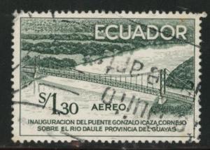 Ecuador Scott C325 used airmail bridge stamp 1958