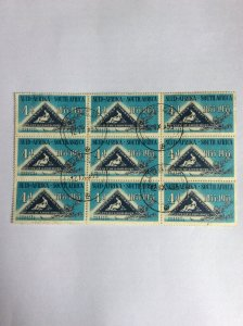 South Africa 1953 4d Centenary block of 9