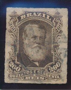 Brazil Stamp Scott #74, Used, Good Centering, Lightly Canceled - Free U.S. Sh...