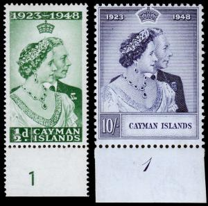 Cayman Islands Scott 116, 117 (1948) Mint H F-VF, CV $25.25 M