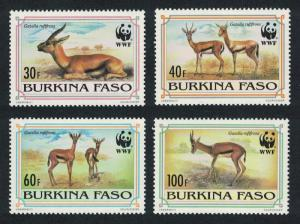 Burkina Faso WWF Red-horned Gazelle 4v SG#1070-1073 MI#1298-1301