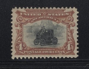 US Stamp Scott #296 Mint Hinged SCV $70