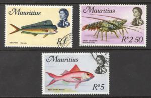 Mauritius Sc# 353-355 Used 1969 Batarde Fish