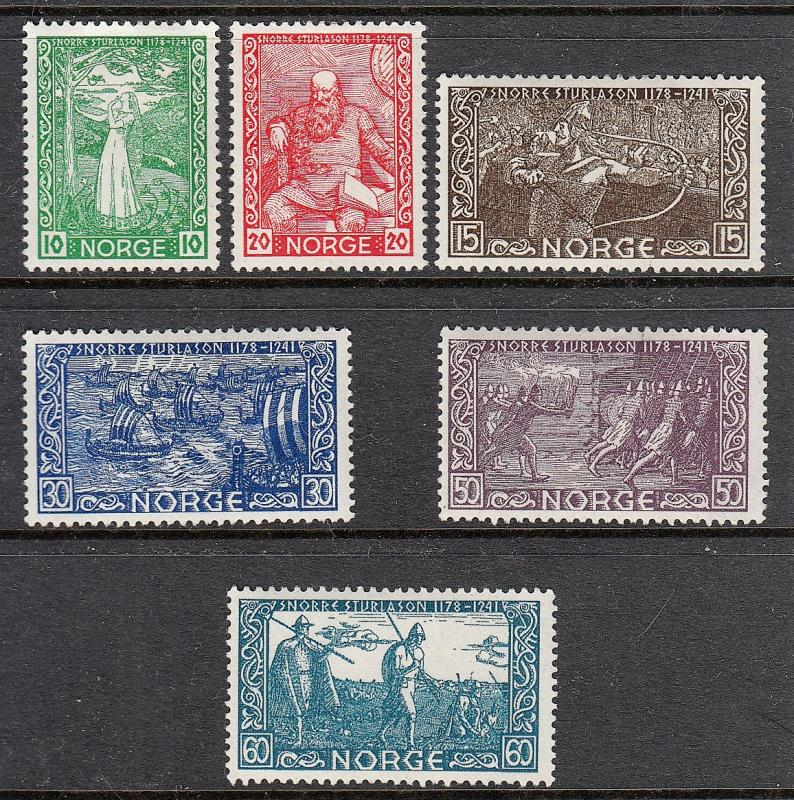 NORWAY MLH #240-245 Complete Set