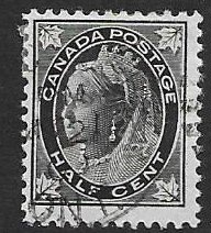 Canada 66  1897  half cent used  FVF