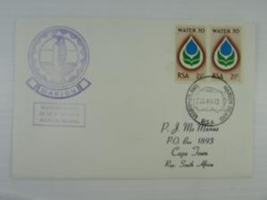 1973 South Africa cover Marion Island Base to Cape Town #359 circular cancel VF
