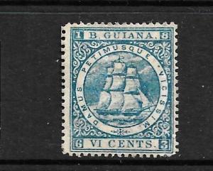 BRITISH GUIANA 1875-76  6c    SHIP  MNG  P15   SG 111