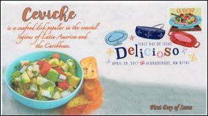 17-097, 2017, Delicioso, Ceviche, FDC, Digital Color Postmark,