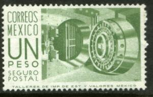 MEXICO G17a $1Peso 1950 Def 8th Issue Fosforescent glazed NH
